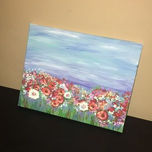 Acrylic Simple Flower Field Painting